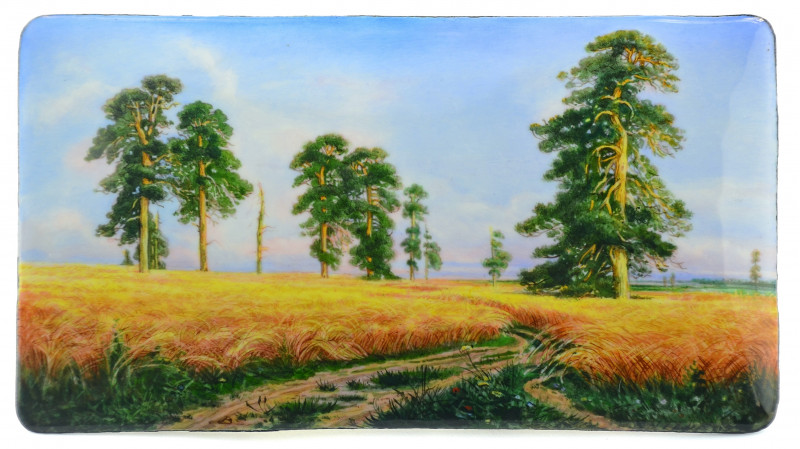 'A Rye Field' after Ivan Shishkin