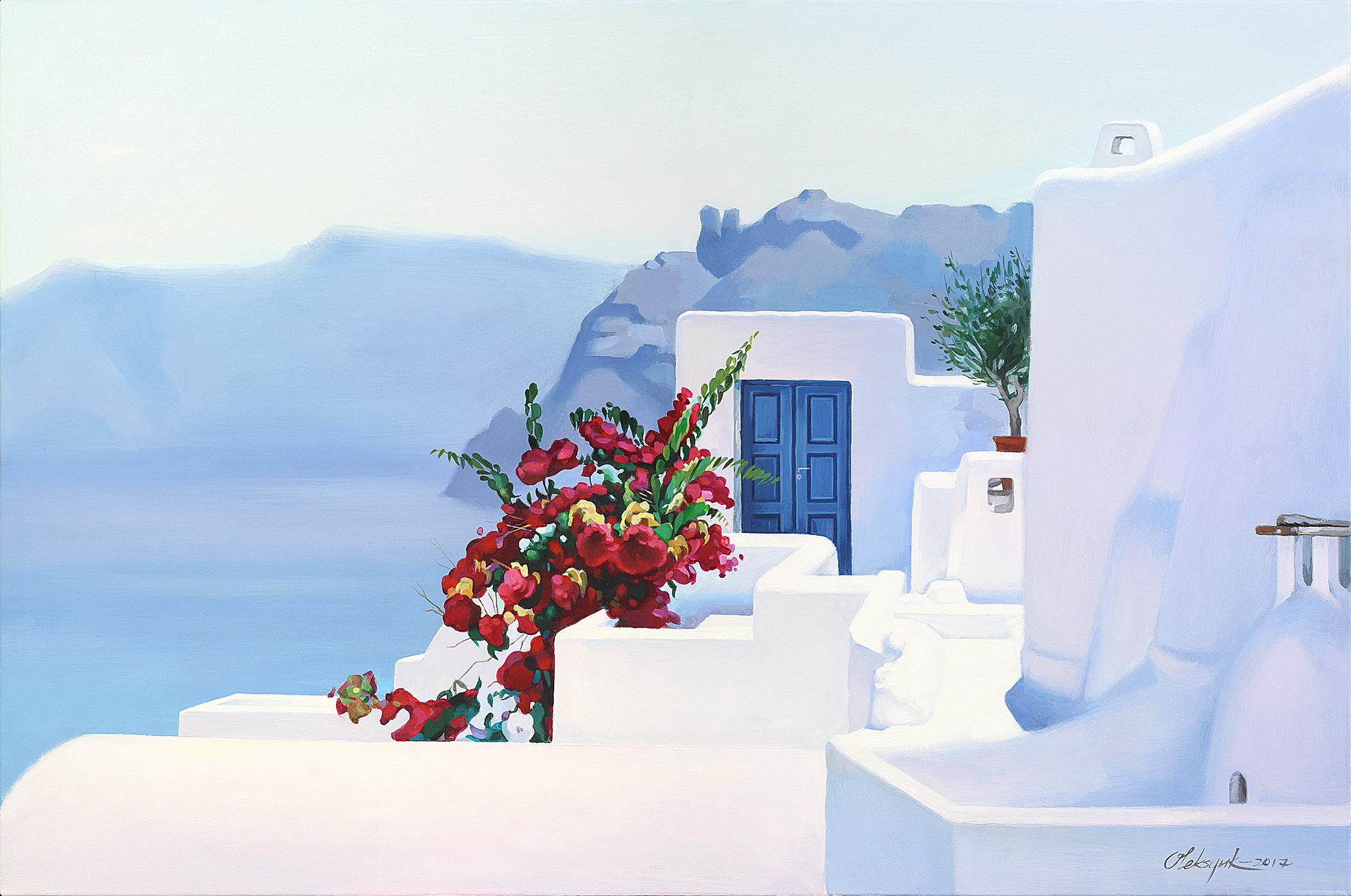#2. Santorini Meditative views