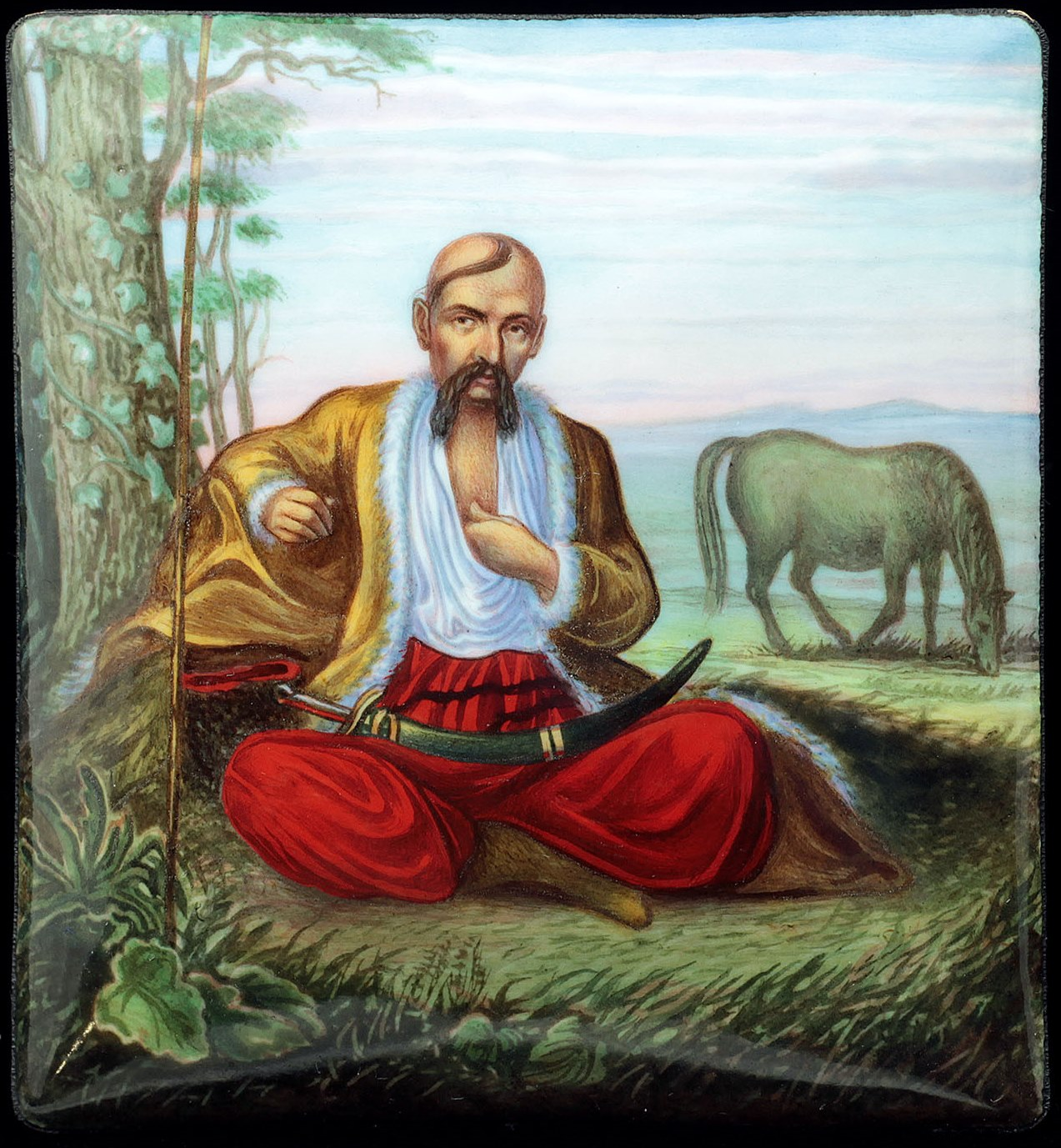 'Zaporizhzhia Cossack' after uknown painter from 19th century