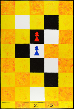 Threefold Game With Five Unknowns. Yellow