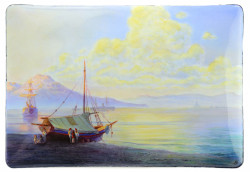 The Bay of Naples in the early morning after Ivan Aivazovsky