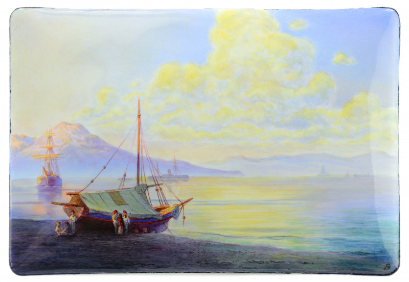 'The Bay of Naples in the early morning' after Ivan Aivazovsky